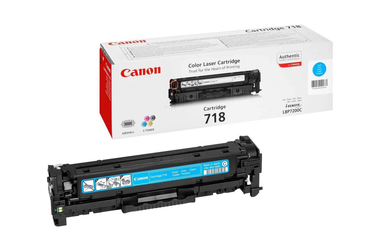 Заправка картриджа Canon 718-cyan