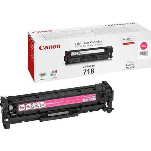 Заправка картриджа Canon 718-magenta