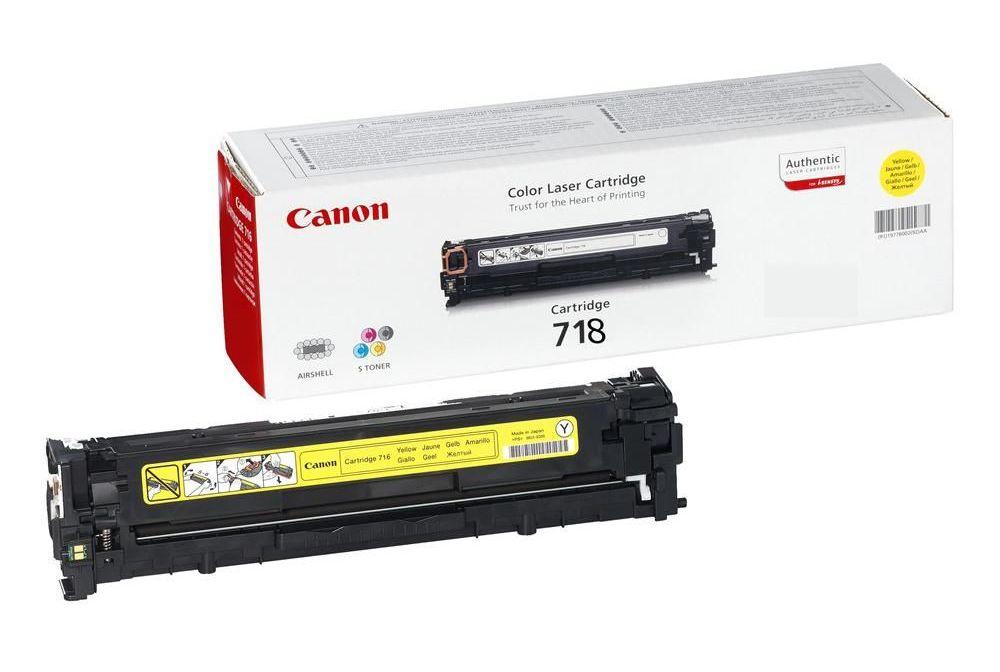 Заправка картриджа Canon 718-yellow