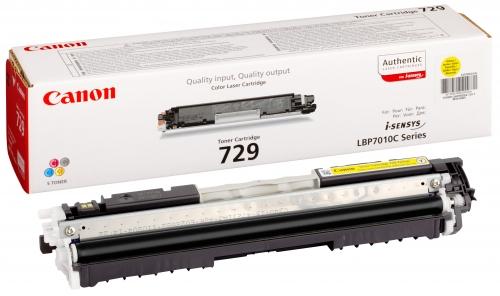 Заправка картриджа Canon 729-yellow